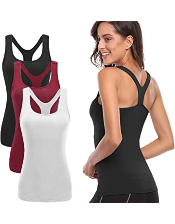 eb6ec8430a TELALEO Tank Tops for Women, Womens V-Shape Workout Tank Tops Clothes for  Women