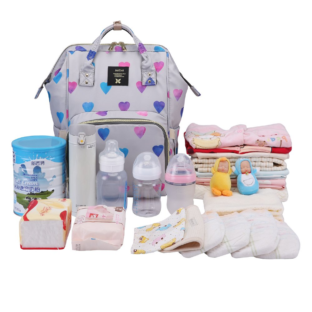 Travel/&Outdoor Organizer Water-Resistant Multi-Function Maternity Bag for Mon Daddy Diaper Backpack Baby Nappy Bag