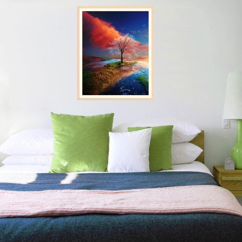 Painting Diamond Flower DIY Photo Wall Bedroom Art Craft Home Decor 25*25CM cm