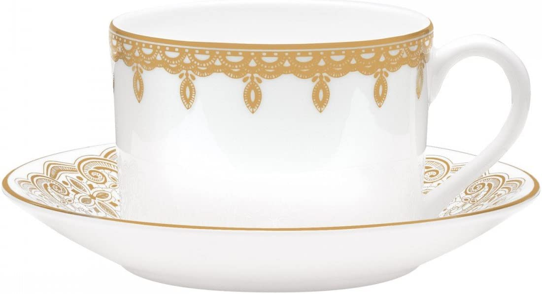 WATERFORD Lismore Lace Gold Teacup & saucer