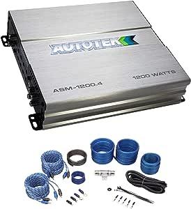 AUTOTEK ASM-1200.4 1200 Watt 4 Channel Car Audio Amplifier Class A/B+Amp Kit