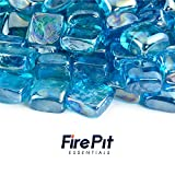 Tahitian Blue - Fire Glass Cubes for Indoor and Outdoor Fire Pits...
