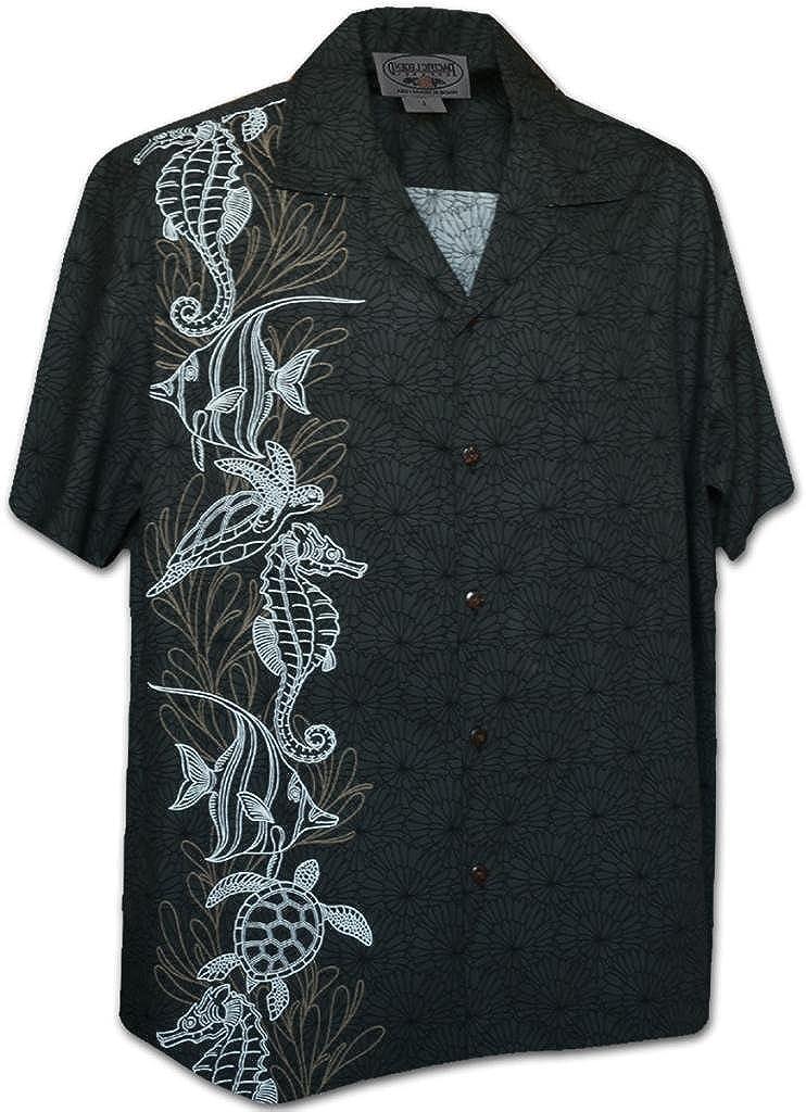 Pacific Legend Oceanarium Panel Tropical Men's Shirt