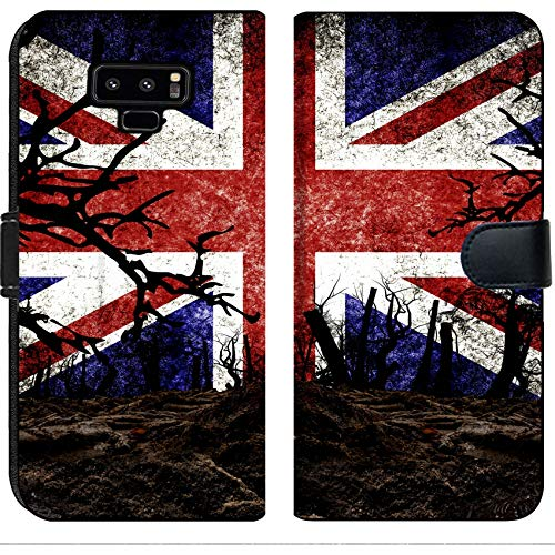 Luxlady Samsung Galaxy Note 9 Flip Fabric Wallet Case Image ID 31510476 Halloween Festival and United Kingdom Flag Background
