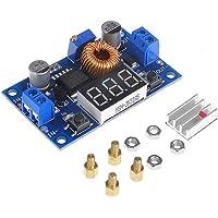 tinxi® 5A 75W DC DC avstängningsomvandlare spänningstransformator med LED voltmeter