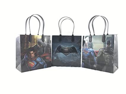 DC Comics Batman Vs Superman 12 Pcs Goodie Bags Party Favor Gift Birthday