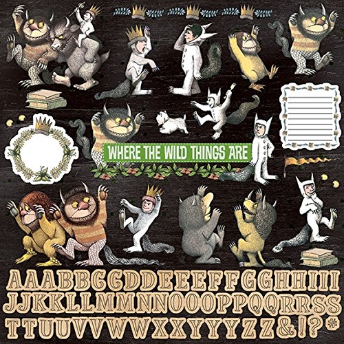 Paper House Productions STCX-1015E 12'' Cardstock Stickers, Where The Wild Things Are (Wild Things Sticker Sheet)