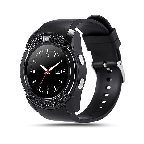 INDI V8 Reloj Smartwatch Bluetooth Smartwatch Reloj deportivo Tarjeta SIM y tarjeta TF Cámara con podómetro