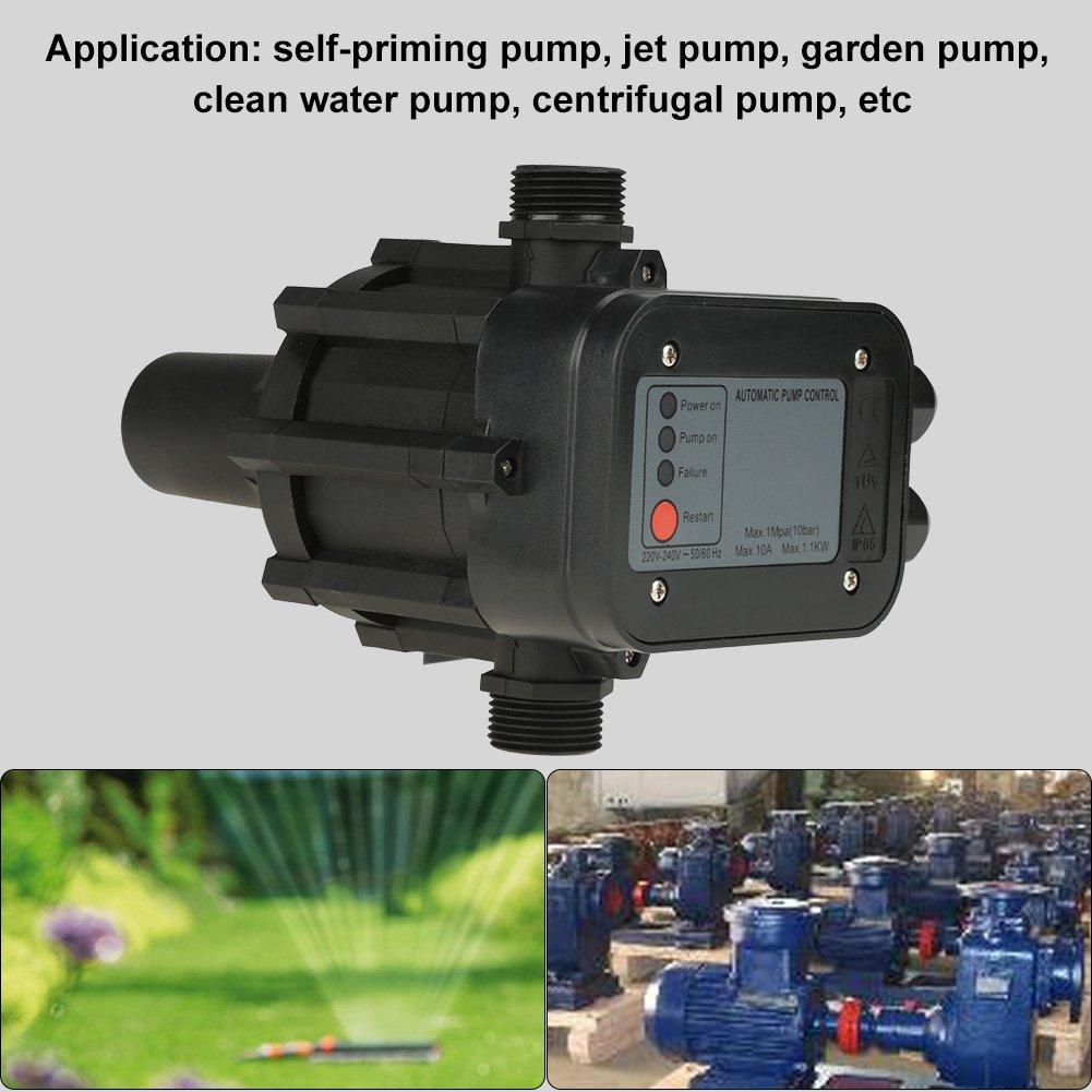 Interruptor de presi/ón regulador autom/ático de la presi/ón del interruptor de presi/ón autocebante negro de la bomba de agua 220V