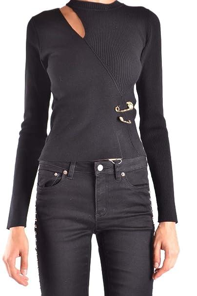 80505c8b26 Versus Versace Women's Bd80658bk1035b1008 Black Viscose Sweater ...
