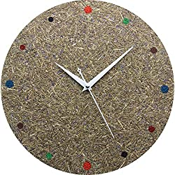 Lavender Wall Art Wall Clock, 13 Round Kitchen Wall Clock - Rustic Country Style