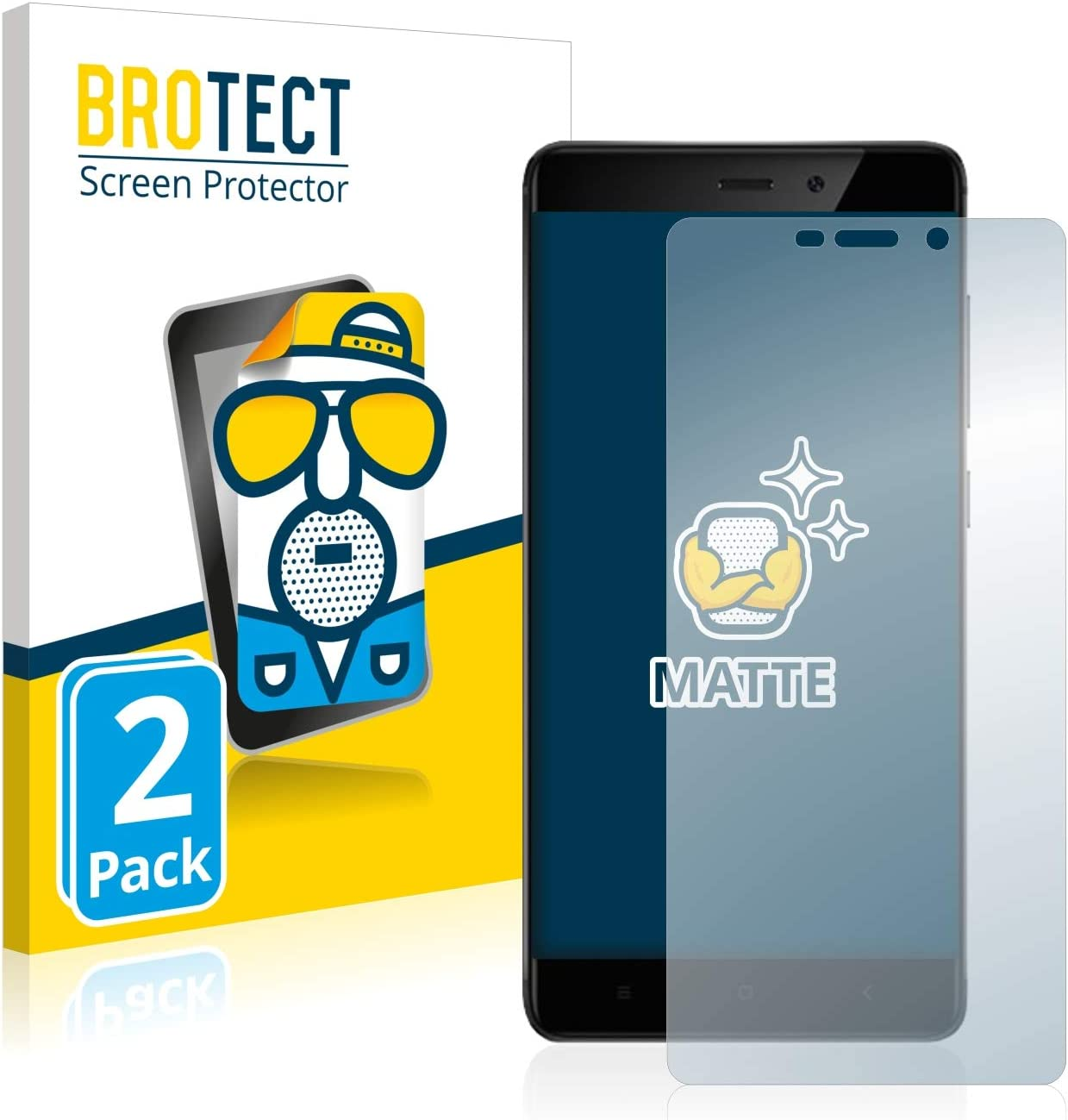 BROTECT Protector Pantalla Anti-Reflejos Compatible con Xiaomi Redmi 4 Pro (2 Unidades) Pelicula Mate Anti-Huellas