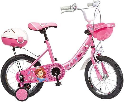 AJZGF Bicicletas niños Girl Princess Bike Child Bike Pink Tamaño ...