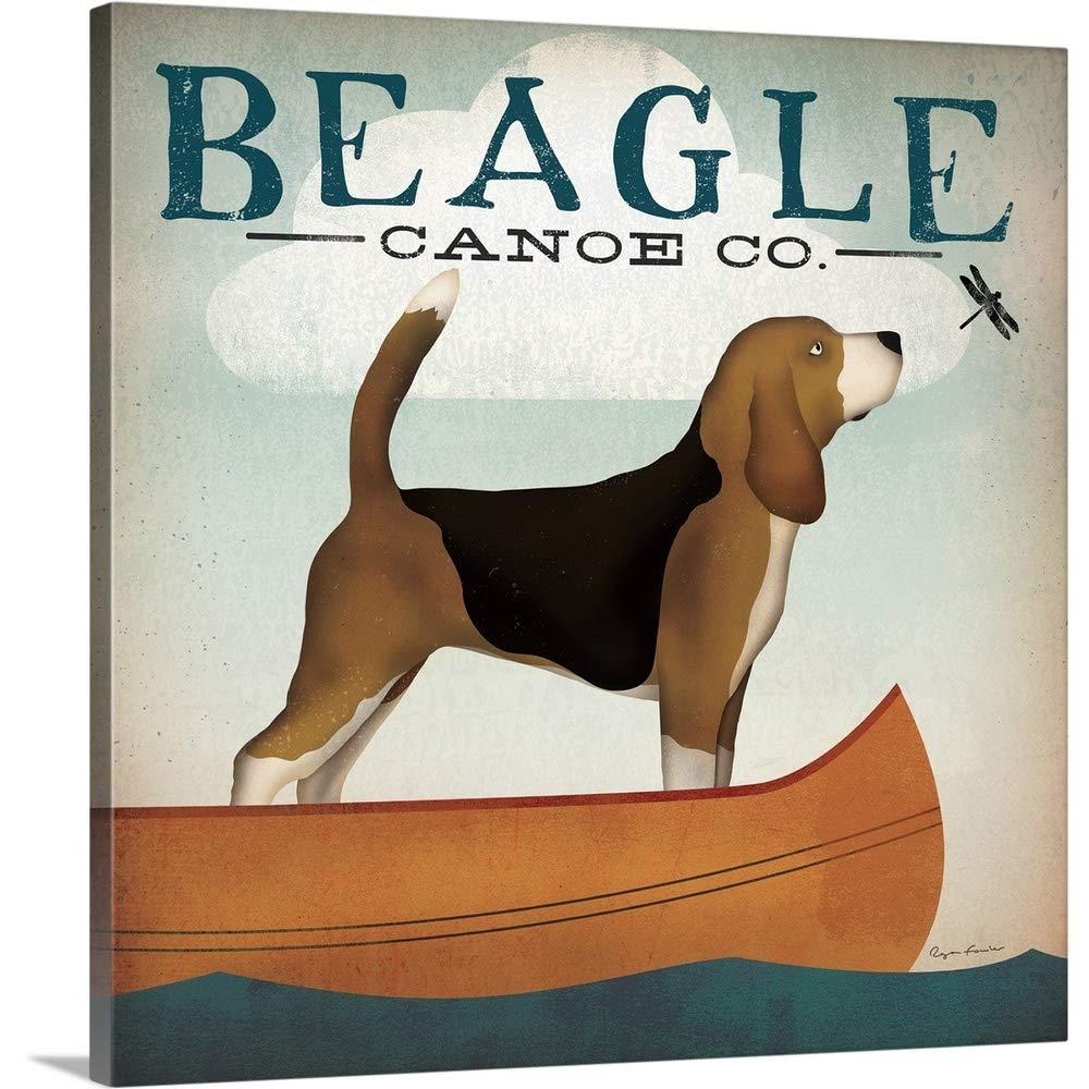 Ryan Fowlerプレミアムシックラップキャンバス壁アート印刷題名Beagle Canoe Co 24