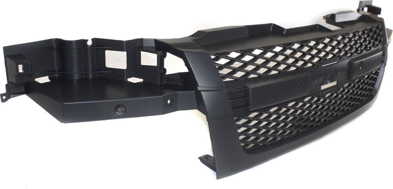 Painted Dark Gray Grill Grille Frame Mesh Insert Chrome Bar Molding GM1200518 12335794 CarPartsDepot 400-15462