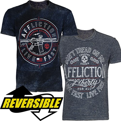 Affliction Live Fast Reversible T-shirt L (Affliction Short Sleeve T-shirt)