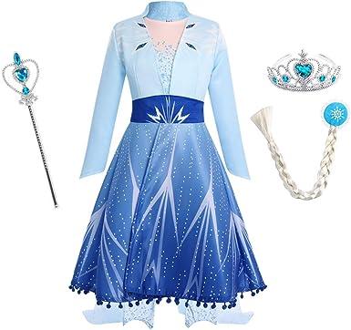 Frozen 2 Princess Anna Cosplay Costume Fancy Dress Halloween Outfits Lot