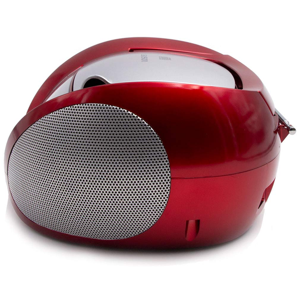 Lauson Boombox whit Cd Player Mp3   Portable Radio CD-player Stereo with USB   Usb & MP3 Player   Headphone Jack (3.5mm) CP542 (Red) by Lauson Woodsound (Image #3)
