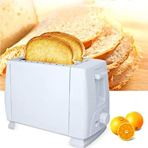 WFLRF 2 Slice Toaster, Toaster Stainless Steel, Bread Machine, Bread Toaster with Defrost/Reheat/Cancel Function, 6 Browning Setting, High-Lift and Wide Slots, Removable Crumb Tray, Home Kitchen