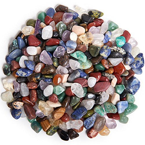(Digging Dolls: 2 lbs Tumbled Natural Brazilian Stone Mix - Over 35 Stone Types - XXSmall - 0.25