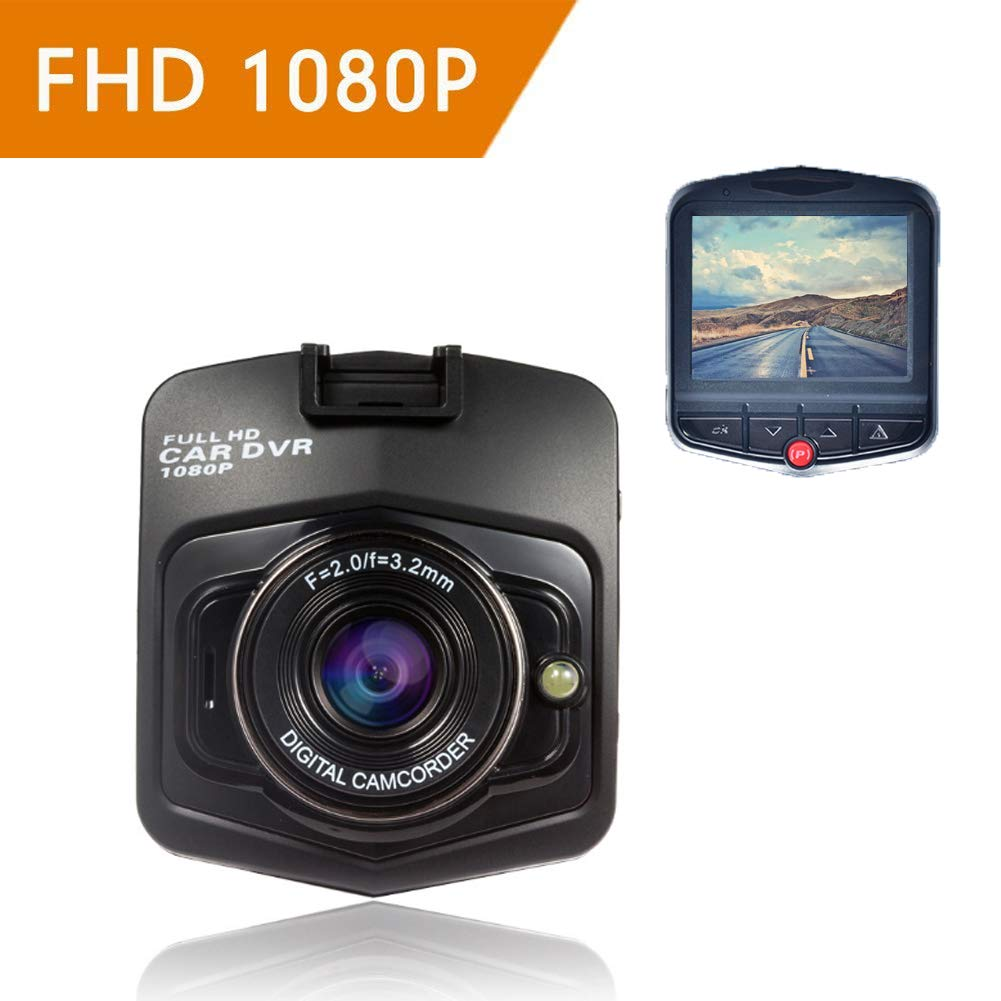 ZYWX Full HD 1080P 2.3 Inch Car Video Recorder 170° Wide Angle, Loop Recording, All Day Monitoring, Night Vision