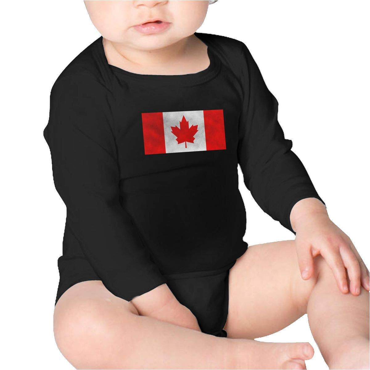 Pikaqiuleilei Canadian Flag Boys Cotton,Long Sleeve Infantile Suit