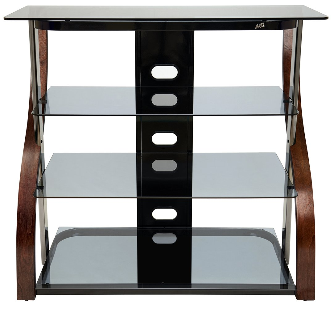 Image result for Bell'O Curved Wood Audio Video Table/TV Stand CW340