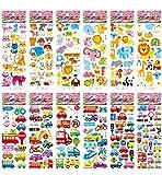 40 sheet 3D puffy stickers,Round Sticker Assortment Set Collection for Children, Teacher, Parent, Grandparent, Kids, Craft, School, Planners & Scrapbooking award stickers