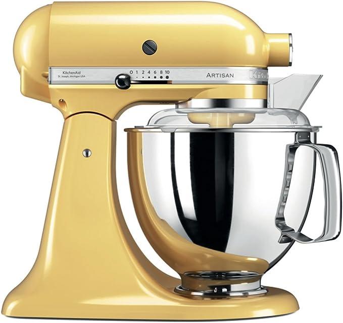 KitchenAid Artisan - Robot de cocina (Amarillo, Acero inoxidable ...