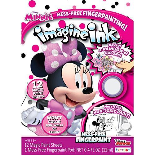 (Bendon 41192 Imagine Ink Mess-Free Fingerpaint Set, Minnie Mouse )