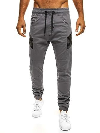 OZONEE Herren Jogger Chino Jogg Hose Baggy Sporthose Jogginghose Fitness  Athletic 706 GRAU S  Amazon.de  Bekleidung f9fee5d02c