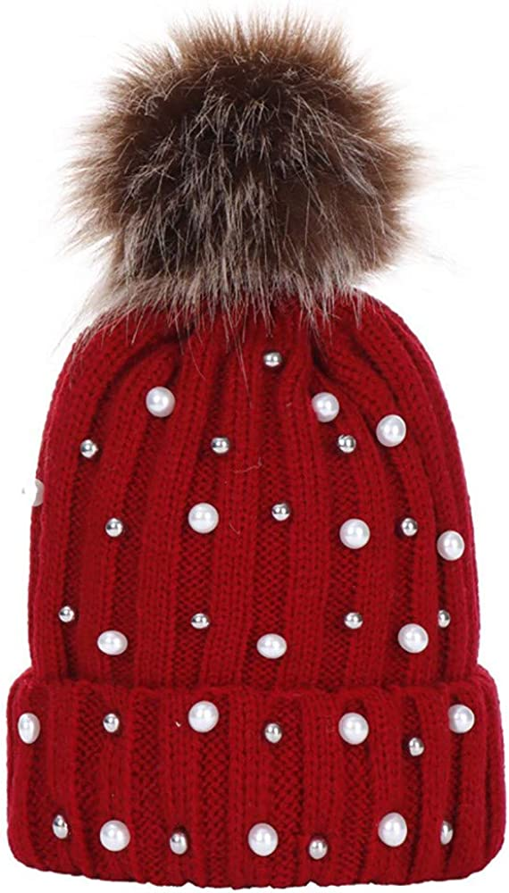STORTO Women Faux Fur Pom...
