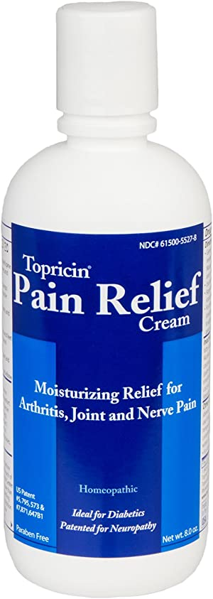 Topricin Pain Relief Therapy Cream (8 oz) Pack of 2 Fast Acting Pain Relieving Rub for Arthritis, Back & Neck Aches, Fibromyalgia, Sciatica, Plantar Fasciitis, Sore Muscles & Joints