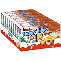 Kinder Happy Hippo CASE COCOA CREAM, 10 PACK With 5 Pieces - Sold by CANDYWORLD.USA