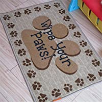 USIX 40x60cm Creative Wipe Your Paws Design Washable Nylon Rug with Anti-Slip TPR Backing, Rug for Home Decoration, Doorway, Kitchen, Pets, Welcome Rug