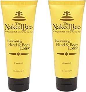product image for The Naked Bee UNSCENTED Hand and Body Lotion 2.25 oz TWO PACK