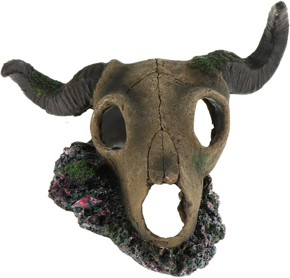 HomeDecTime Pecera Decoración del Acuario Artificial Oriental Hide Cave Ornament Resina No Tóxica Reptile Breeding Cave - Forma 1