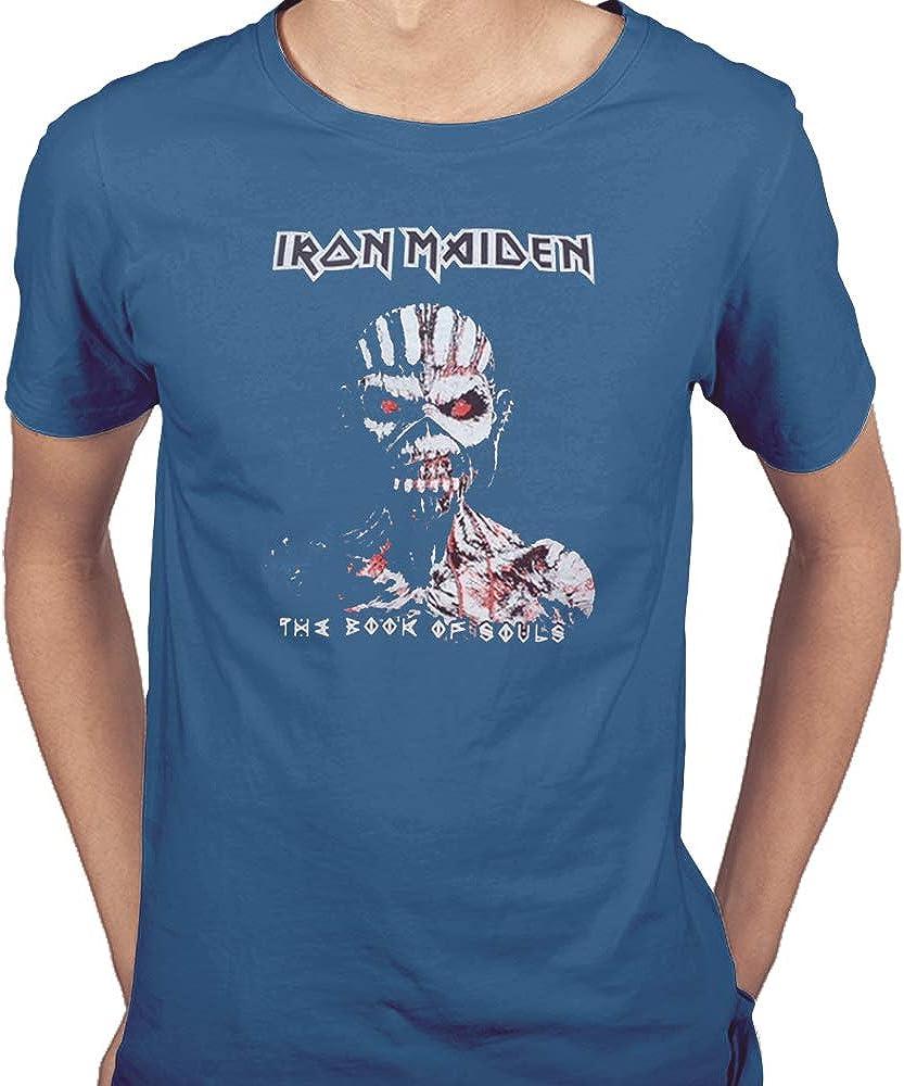 Acokaia Camiseta Iron Maiden Azul: Amazon.es: Ropa