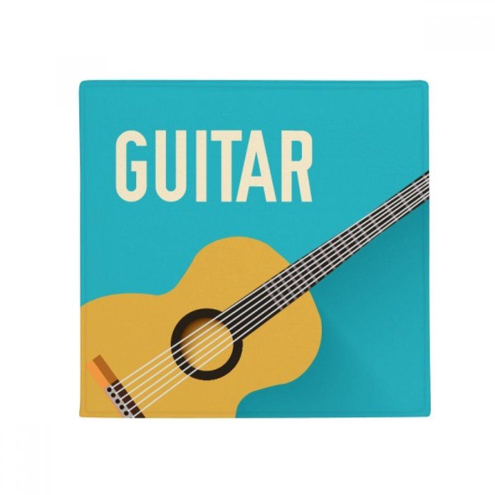 DIYthinker Guitar Music Illustrate bluee Pattern Anti-Slip Floor Pet Mat Square Home Kitchen Door 80Cm Gift