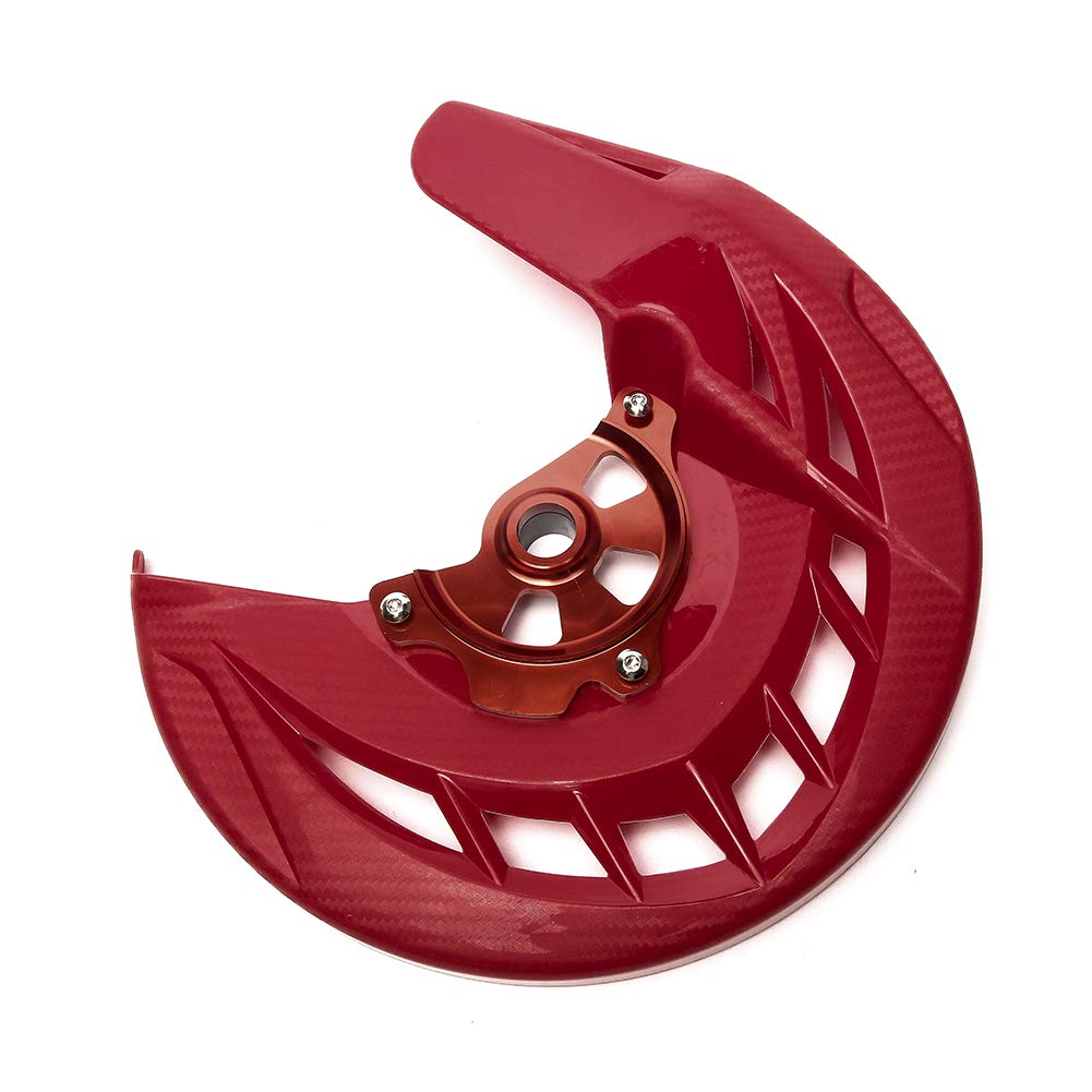 CRF250R CRF450R CRF250X 2004-2015 Triclicks Rot Motorrad Vorne Bremsscheibe Rotor Schutz Deckung Guard Schutz Cover f/ür Honda CR125R CR250R 2004-2007 CRF450X 2005-2015