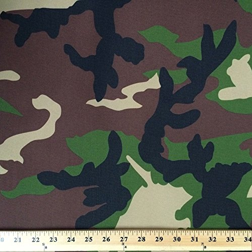 Ottertex ™ Waterproof Canvas Camo Fabric Fabric by the Yard