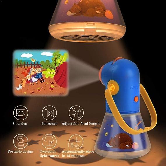 Asixx Luz de Noche para niños, proyector multifunción, luz de ...