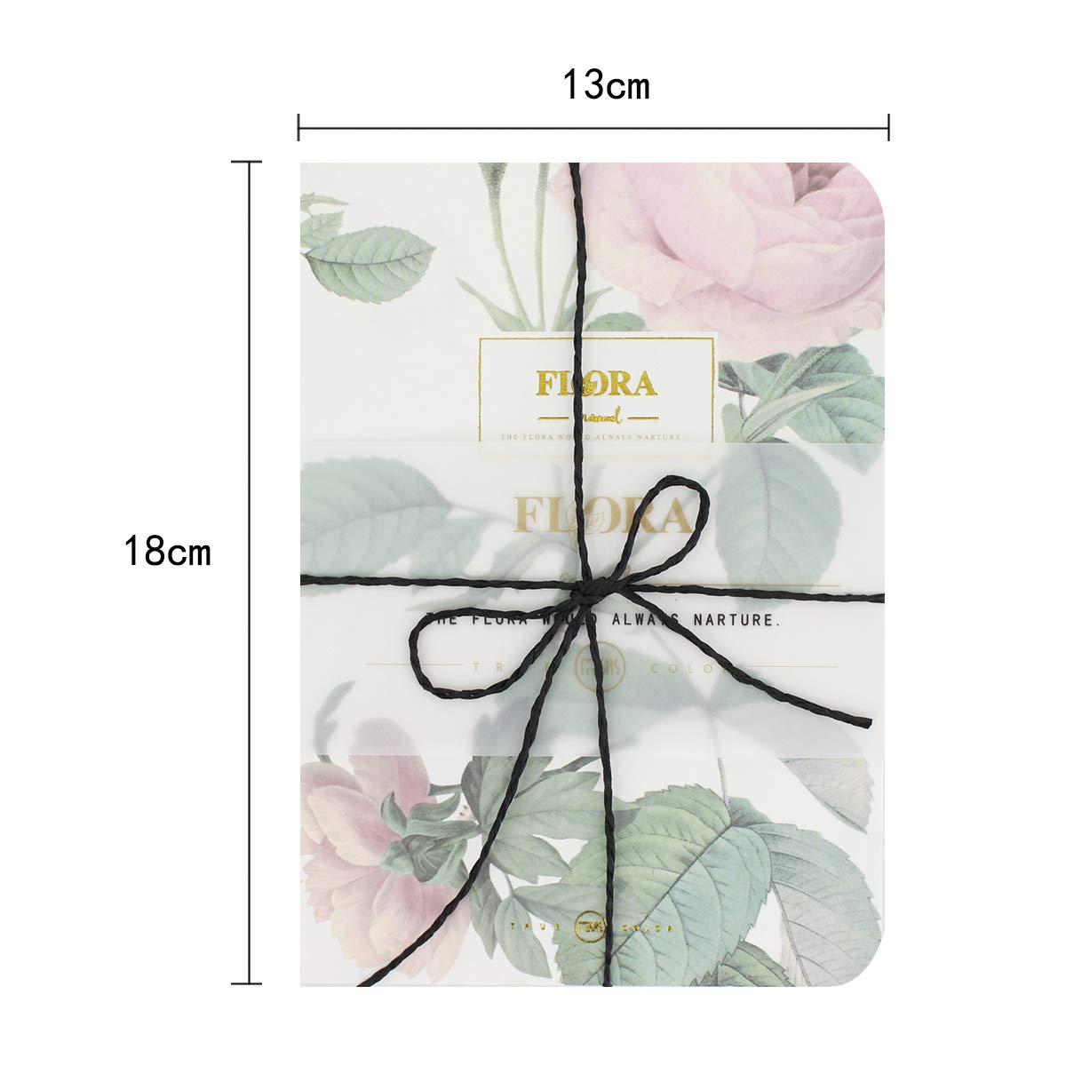 La Haute Flora - Cuaderno de notas notas notas en blanco para libros de dibujos, 160 páginas, color C talla única 373b19