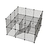 KOUSI Small Pet Playpen, Metal Wire Apartment-Style Two-Storey Animal Fence and Kennel, Comfortable Pet Premium Villa for Guinea Pigs, Dwarf Rabbits, 36 Panels For Sale