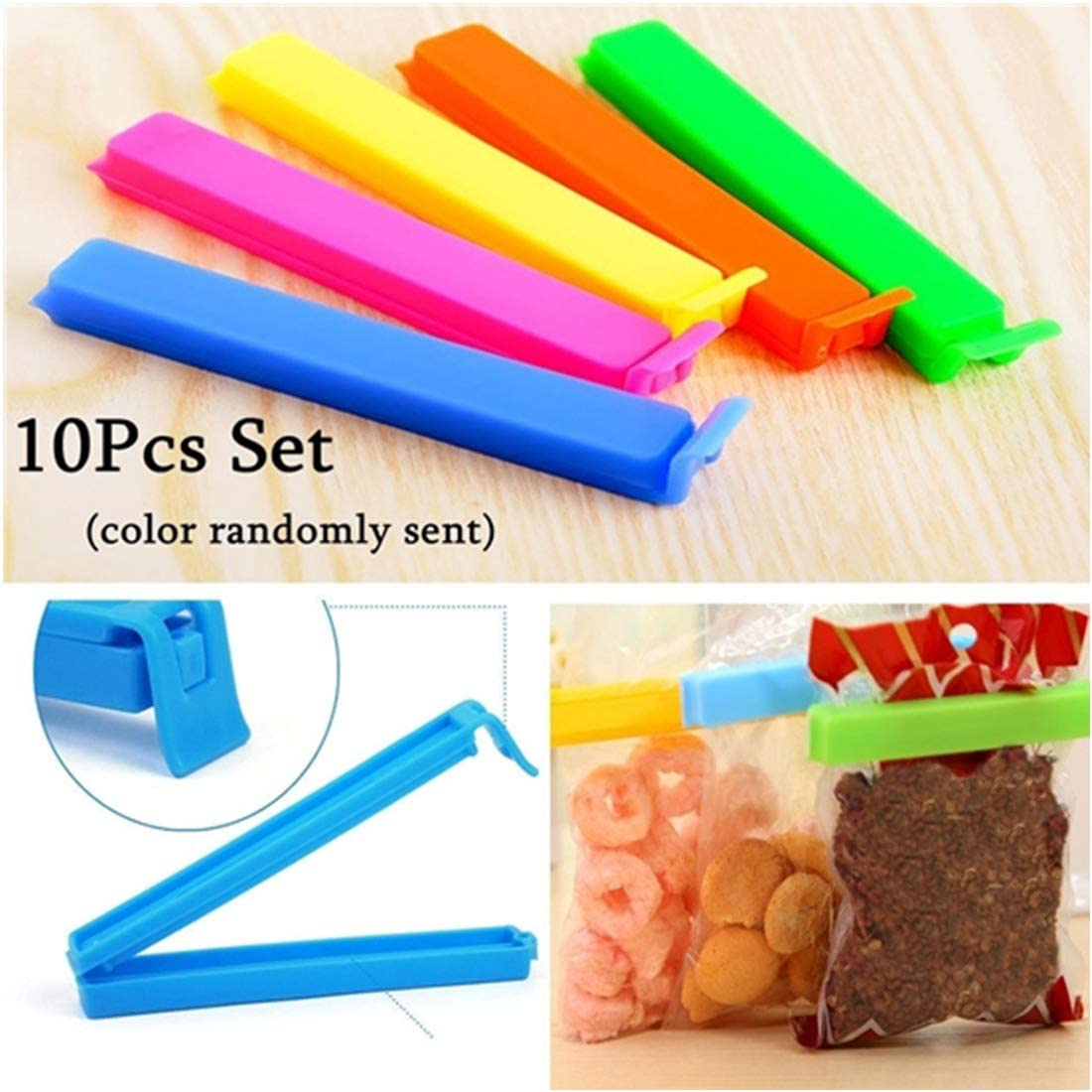 Kitchen Storage Food Snack Seal Sealing Bag Clips Sealer Clamp Plastic Tool 30x