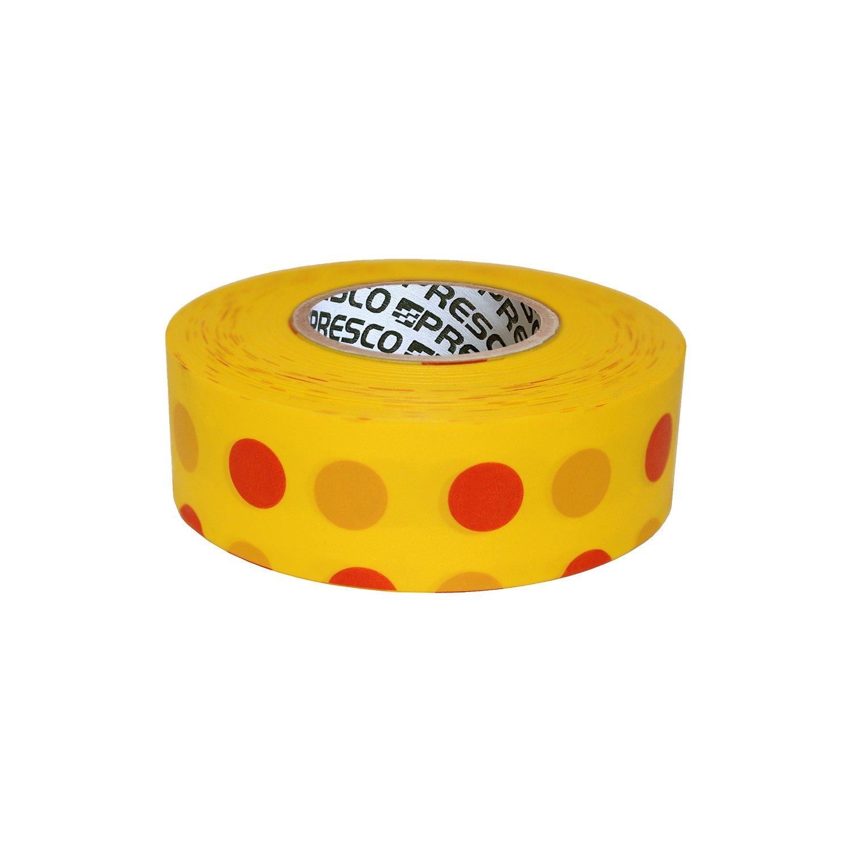 Presco Polka Dot Patterned Roll Flagging Tape x 300 ft. 1-3//16 in White and Black Polka Dot