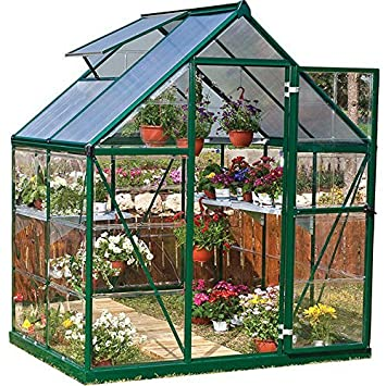 Wondrous Palram Nature Series Hybrid Hobby Greenhouse 6 X 4 X 7 Forest Green Home Interior And Landscaping Oversignezvosmurscom