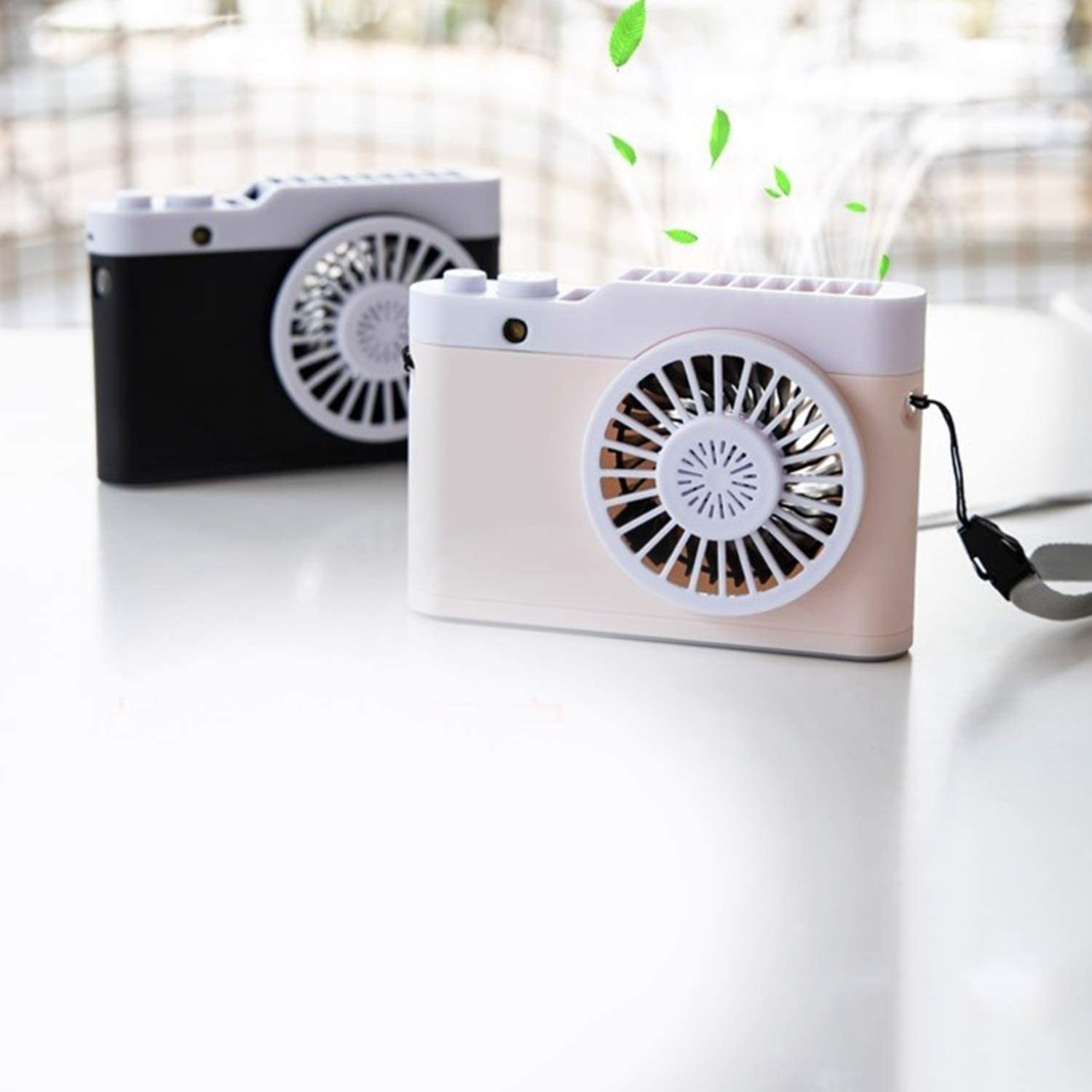 Air Cooler Mini USB Charging Fan 3 Gear Wind Electric Fan Outdoor Indoor Desktop Personal Fans Color : 01