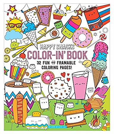 Amazon.com : OOLY, Coloring Book, Happy Snacks, 32 Pages, 9\