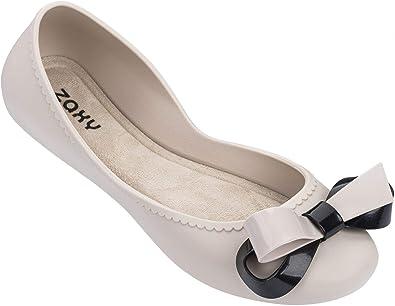 Zaxy Start Ribbon Bow Ivory Womens Ballerinas Shoes